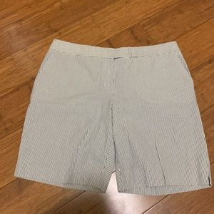 Talbots Petites 14P Striped Shorts
